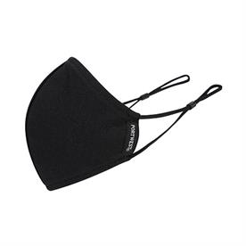 Portwest 2-Ply Anti-Microbial Fabric Face Mask Black