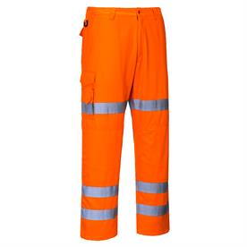 Hi-Vis Three Band Combat Trousers Orange RT49