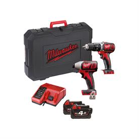 18V Percussion Drill & Impact Driver Twin Pack